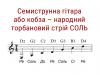Семиструнна гітара або кобза – народний торбановий стрй СОЛЬ