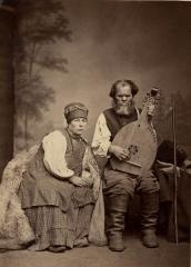 Кобзар Остап Вересай з дружиною. 1873